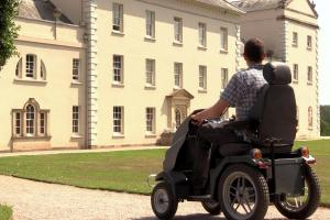 Explore the gardens of Saltram by Tramper scooter