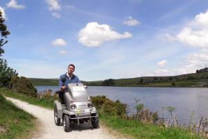 Explore the lakeside trail using the Tramper at Siblyback