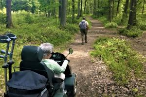 The all terrain Tramper makes exploring the forest easy