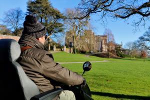 Explore the Deer Park at Powderham using the Tramper