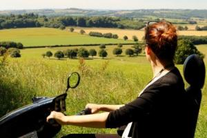 Sweeping views from National Trust Killerton using the Tramper