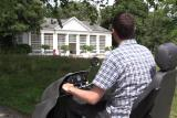 The Tramper scooter allows you to explore the Saltram Estate