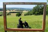 Picture-perfect views using the Tramper scooter at National Trust Killerton