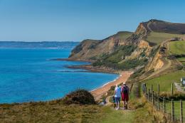 Experience spectacular views of the Jurassic Coast. Credit - James Cox