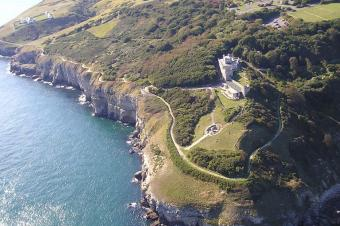 Durlston as viewed from above