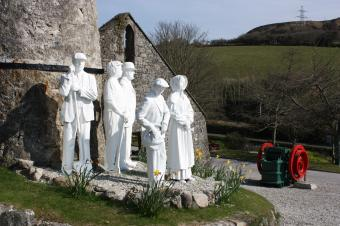 Clay figures outside Wheal Martyn