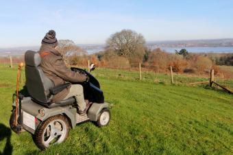 Panoramic views can be accessed using the all terrain scooter