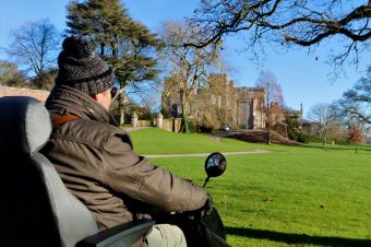 Powderham can now be explored using the Tramper all terrain scooter