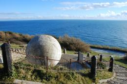 The Globe statue at Durlston