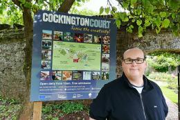Mystery visitor at Cockington. Photo credit: Devon Link Up
