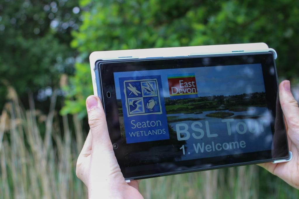 Tablet with BSL videos